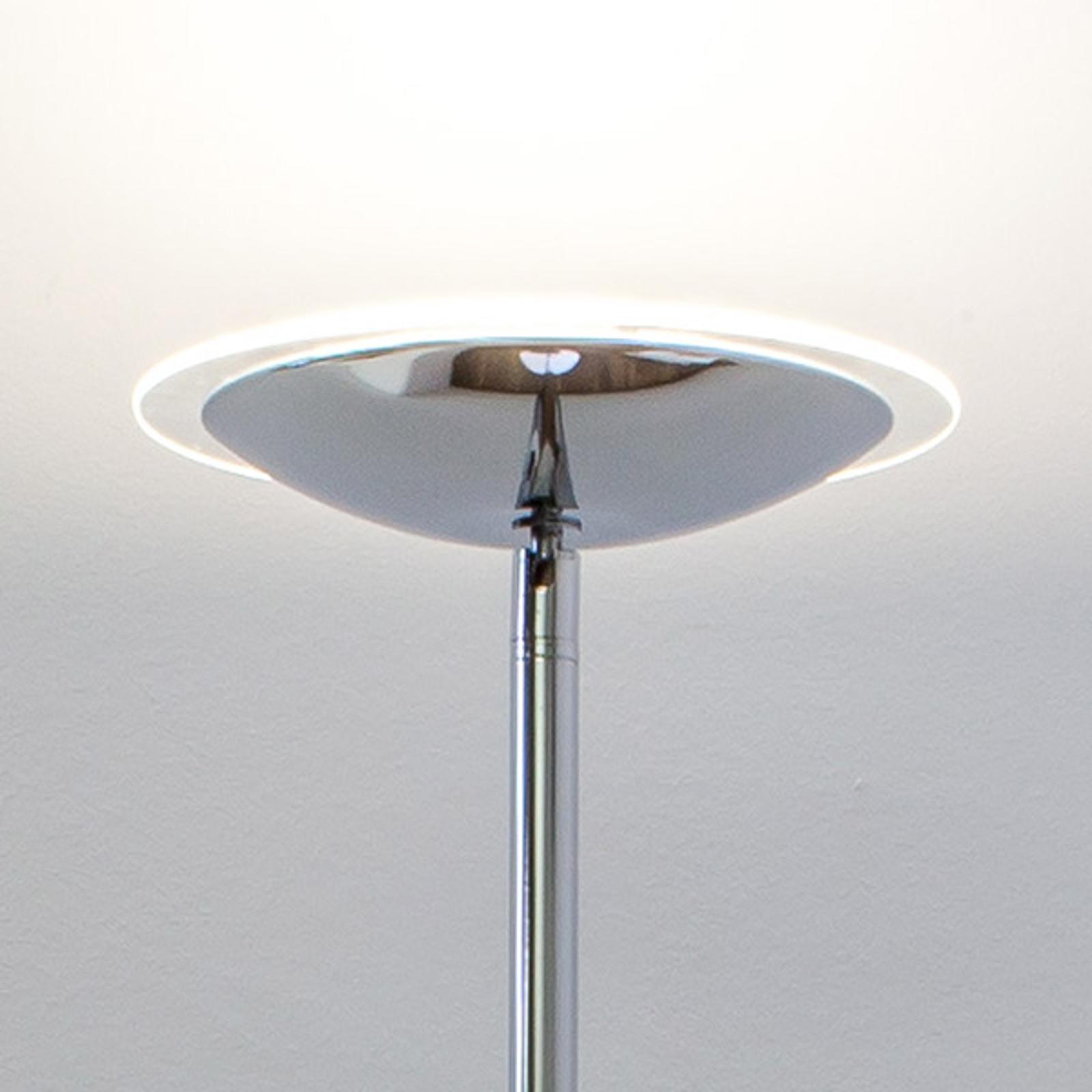 Kromglänsande LED-uplight-golvlampa Malea