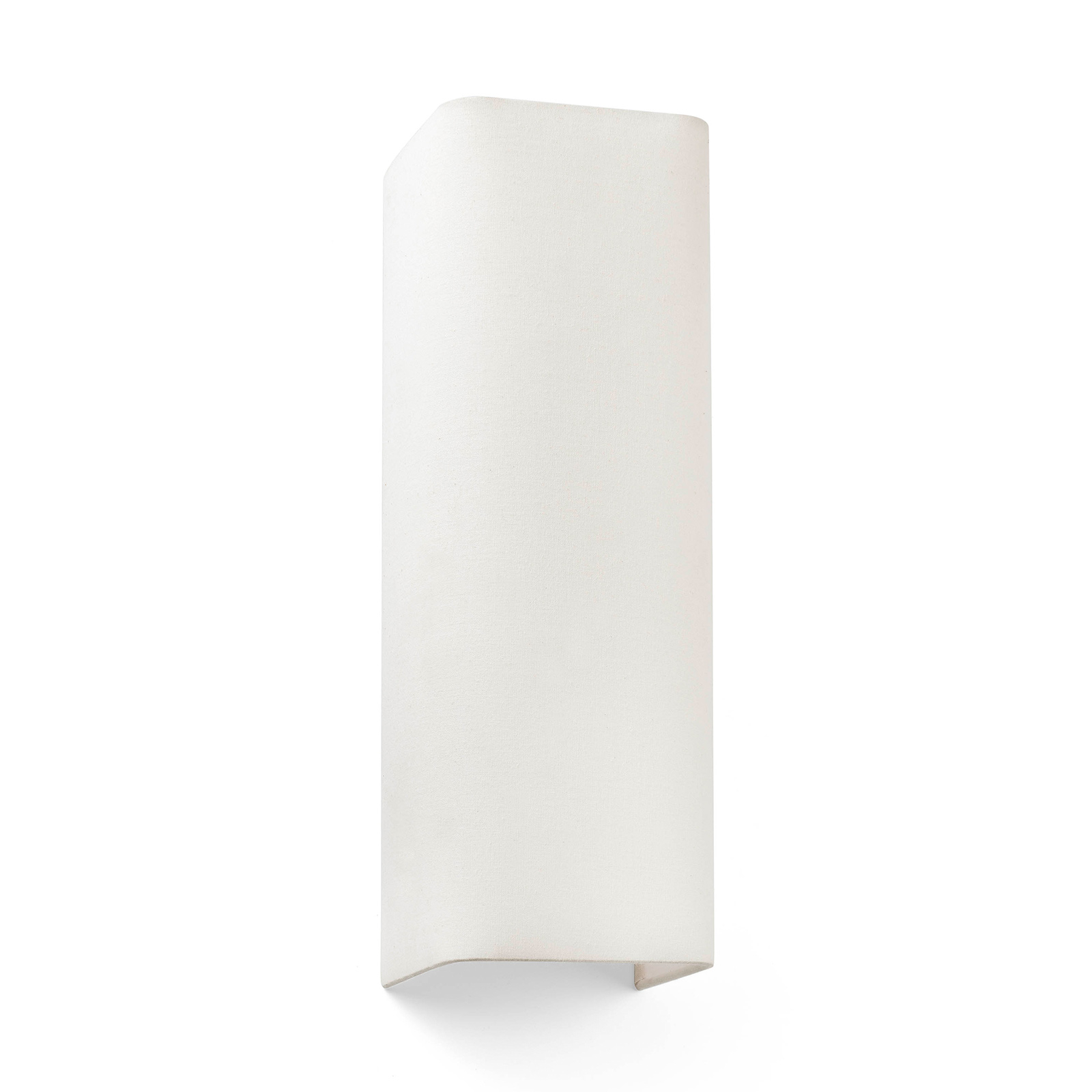 Wandlamp Cotton, hoekig, 37 x 12 cm, beige