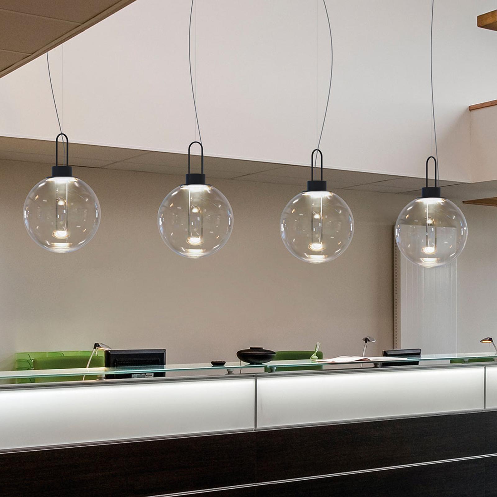Modo Luce Orb LED hanglamp, zwart, Ø 40 cm
