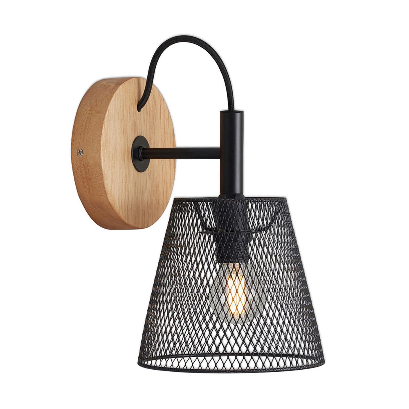 Wood & Style 2077 Wandlampe mit Streckmetallschim