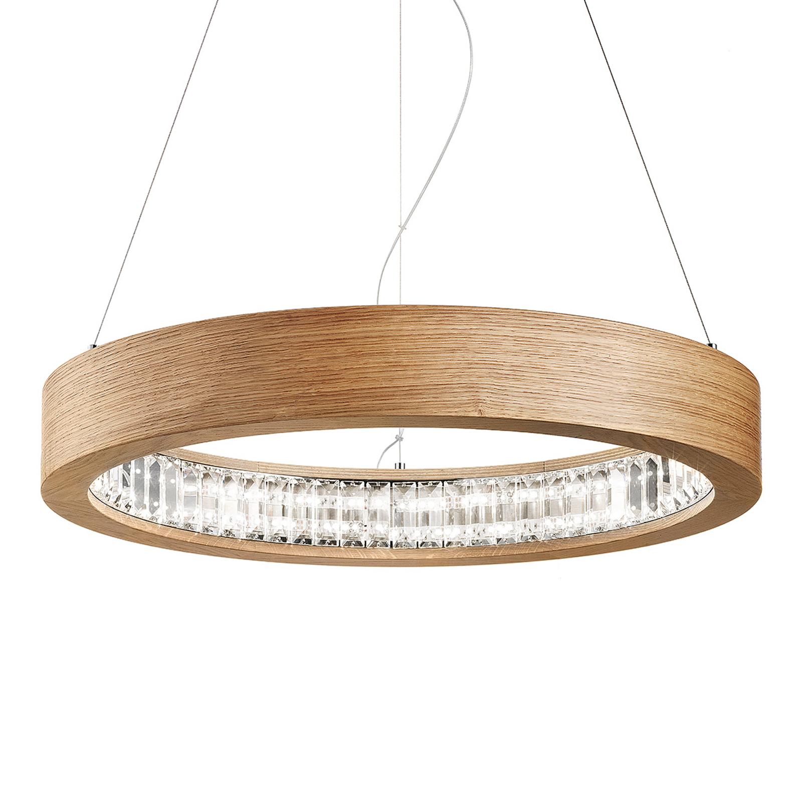 Suspension LED ronde Libe Round, 60 cm