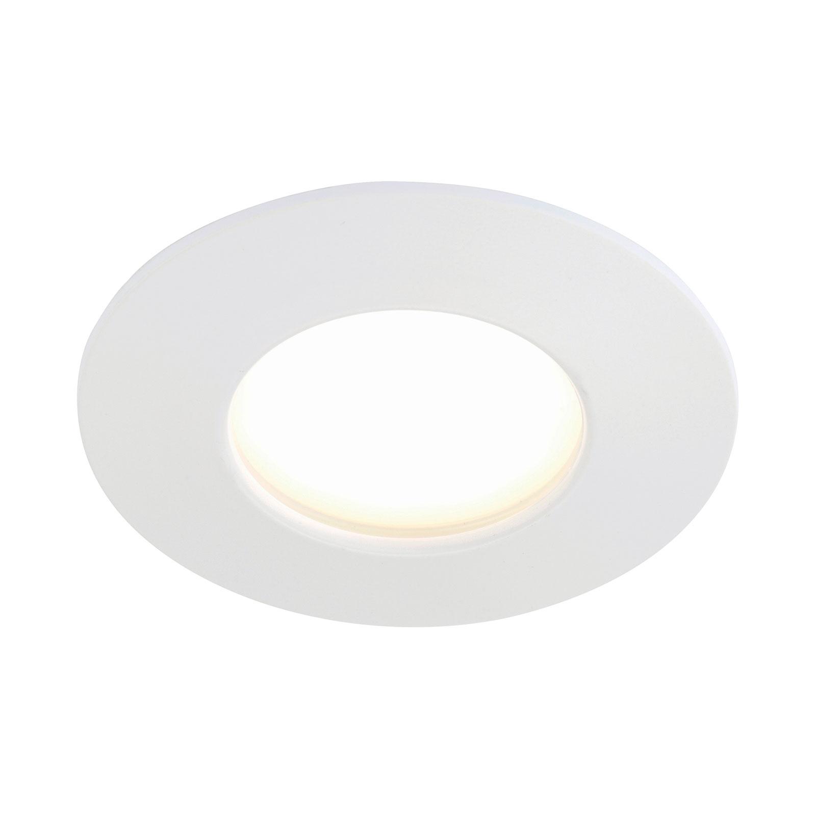Weiße LED-Einbauleuchte Till für außen