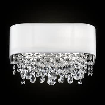 Textil-Wandlampe Manfred m. Kristallen