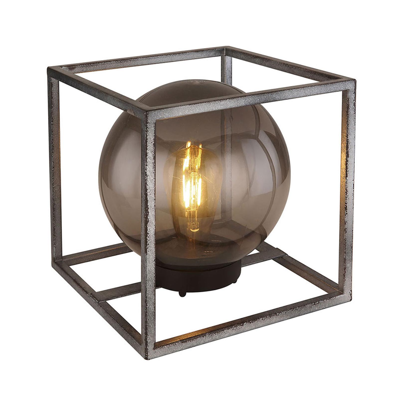 LED-Solar-Dekoleuchte Würfel mit Kugel, 23 cm