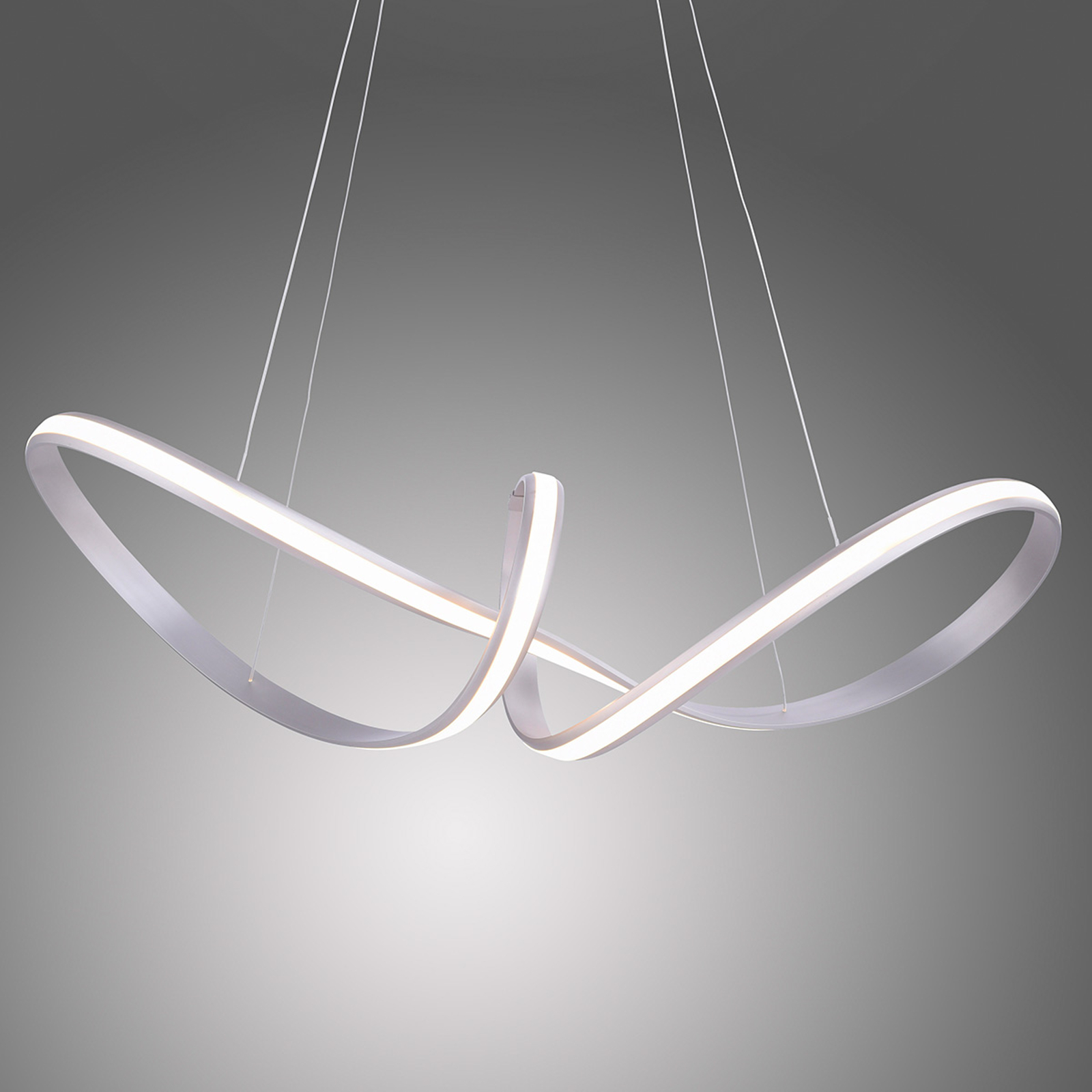 Suspension LED Melinda, 38W, dimmable, gris acier