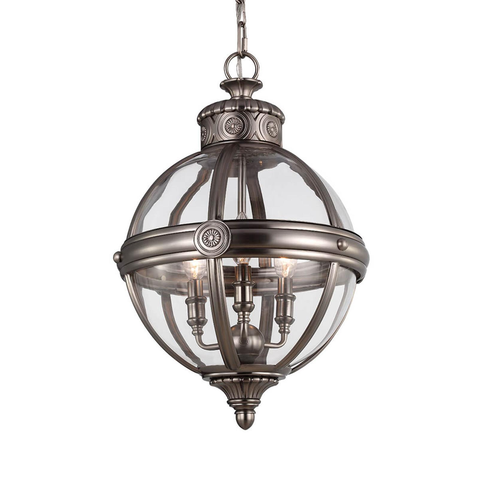 Adams hængelampe, Ø 37 cm, nikkel