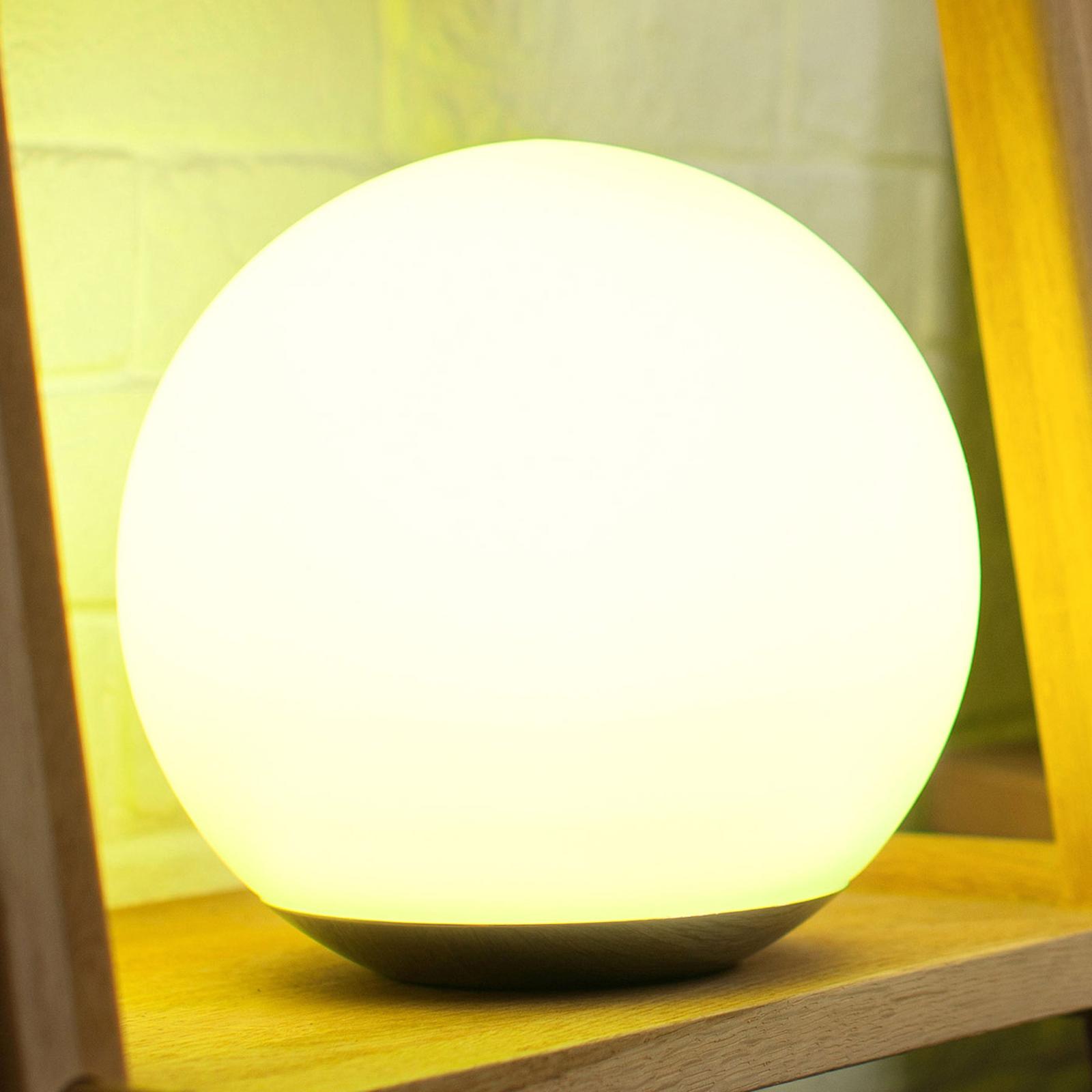 Technologia WiZ - lampa stołowa LED Spirit szklana
