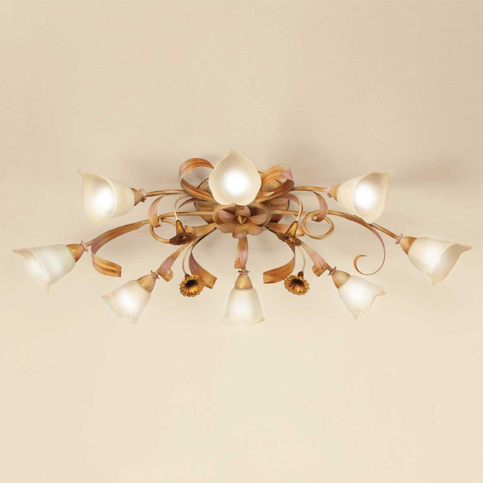 Złota lampa sufitowa styl florentyński Giovanni
