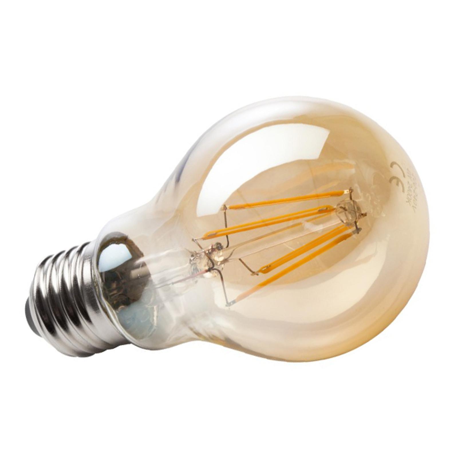 Złota żarówka filament LED E27 4W 820