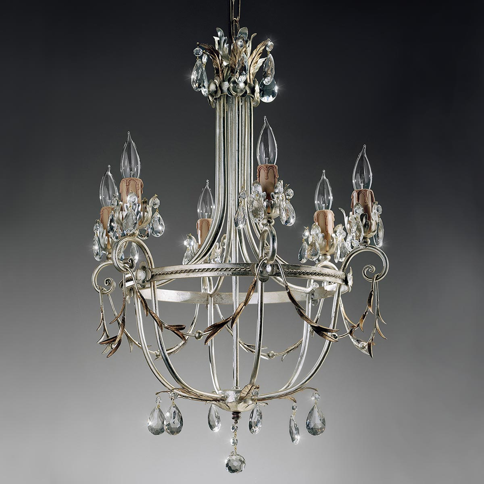 Florentinsk ljuskrona Mecca, 6 lampor