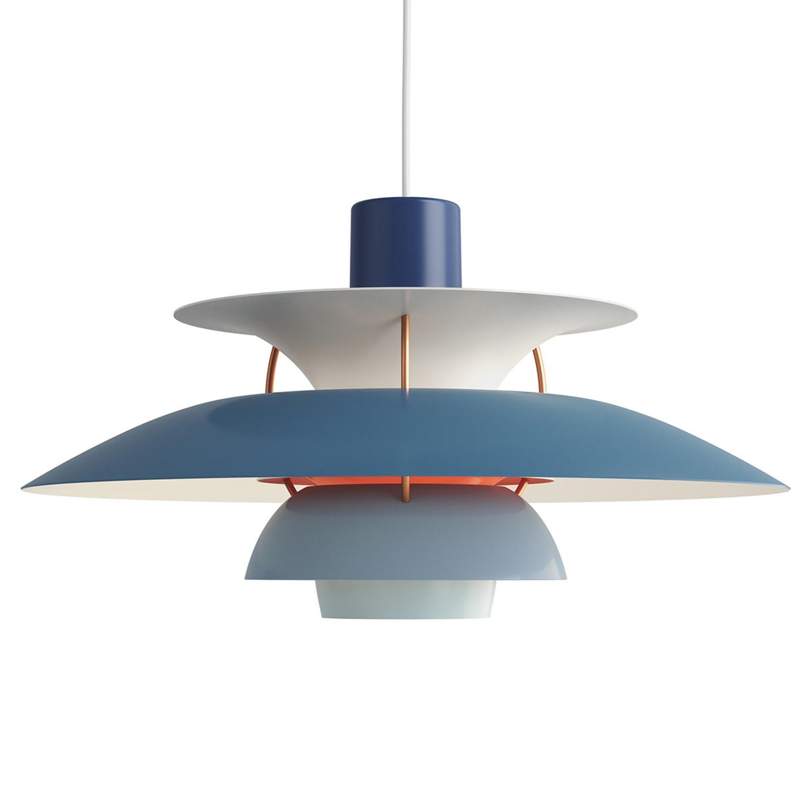 Louis Poulsen PH 5, Designer-Pendellampe blau