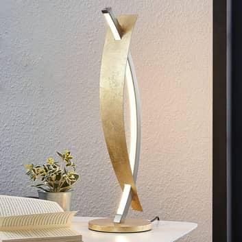 Lampa stołowa LED Marija, szlachetne złoto