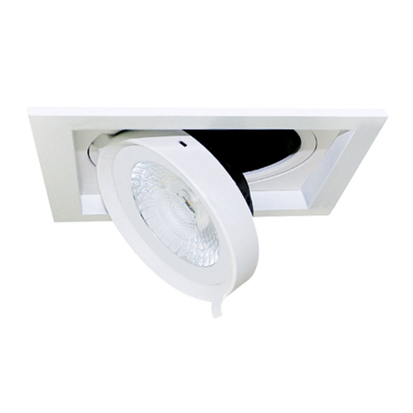 LED inbouwspot Quado1, 1-lamp, dimbaar 38°