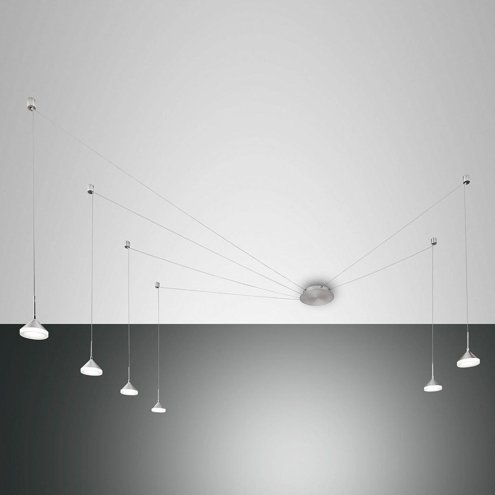 Suspension LED à six lampes Isabella