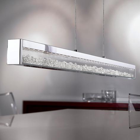 LED závěsné světlo Cardito s krystalem Asfour