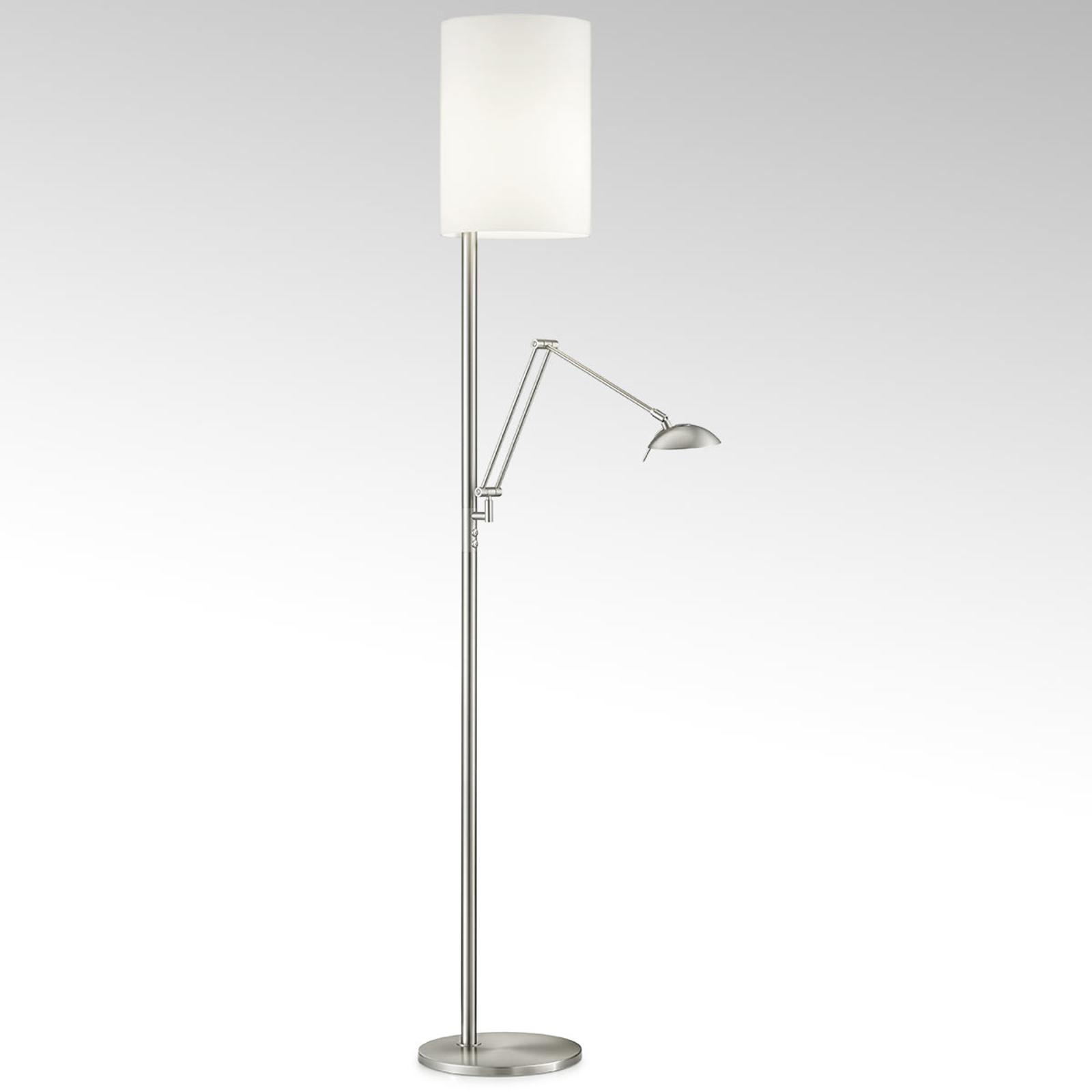 LED vloerlamp Nola mat nikkel