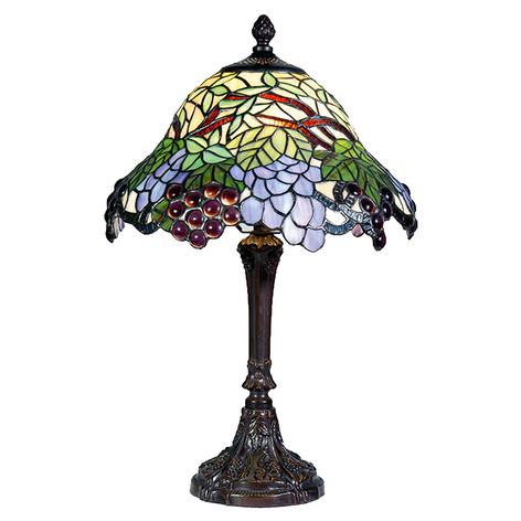 Farverig bordlampe Lotta i Tiffany-stil