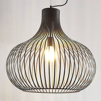 Hanglamp Frances, bruin, 1-lamp, Ø 60 cm