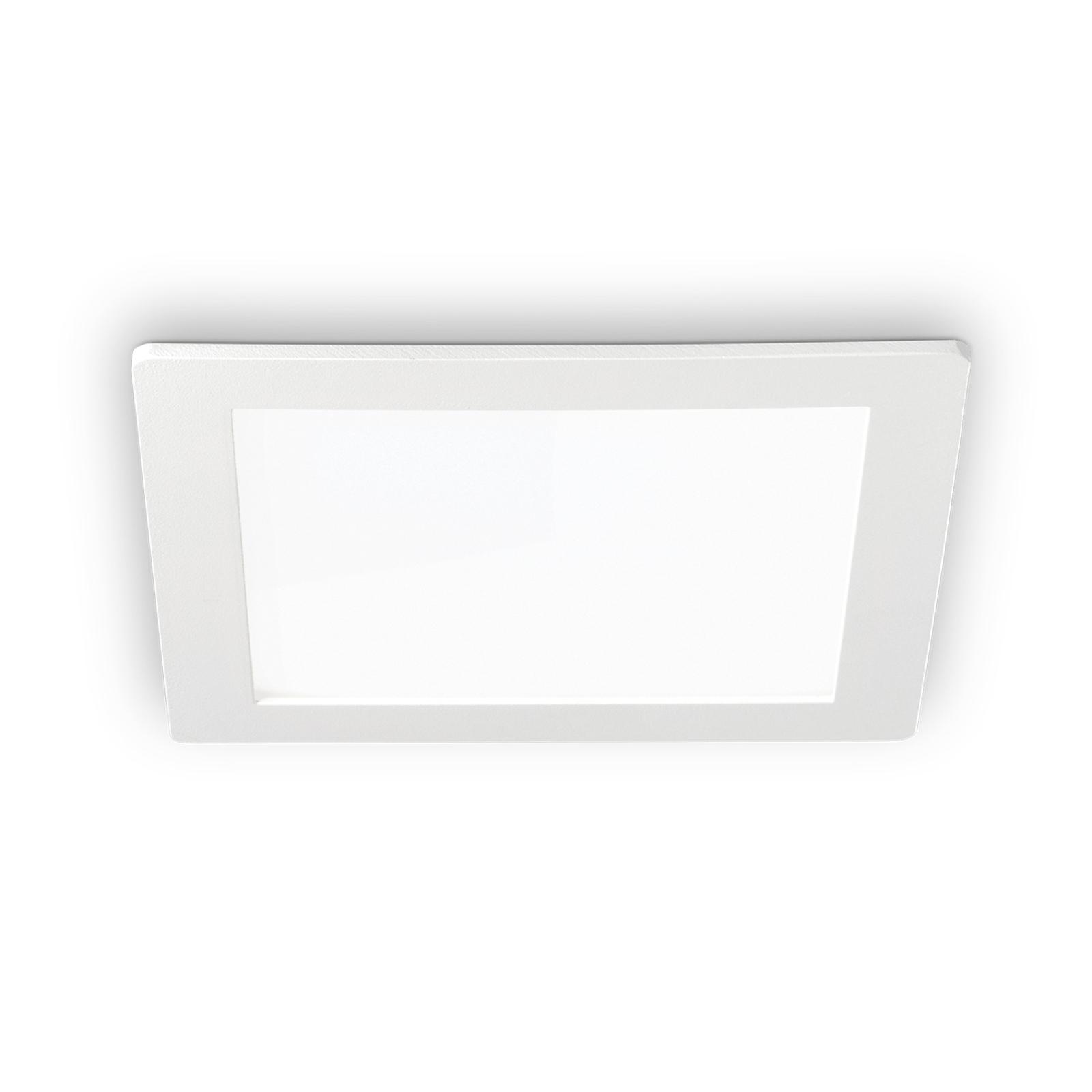 LED-Deckeneinbauleuchte Groove square 16,8x16,8 cm