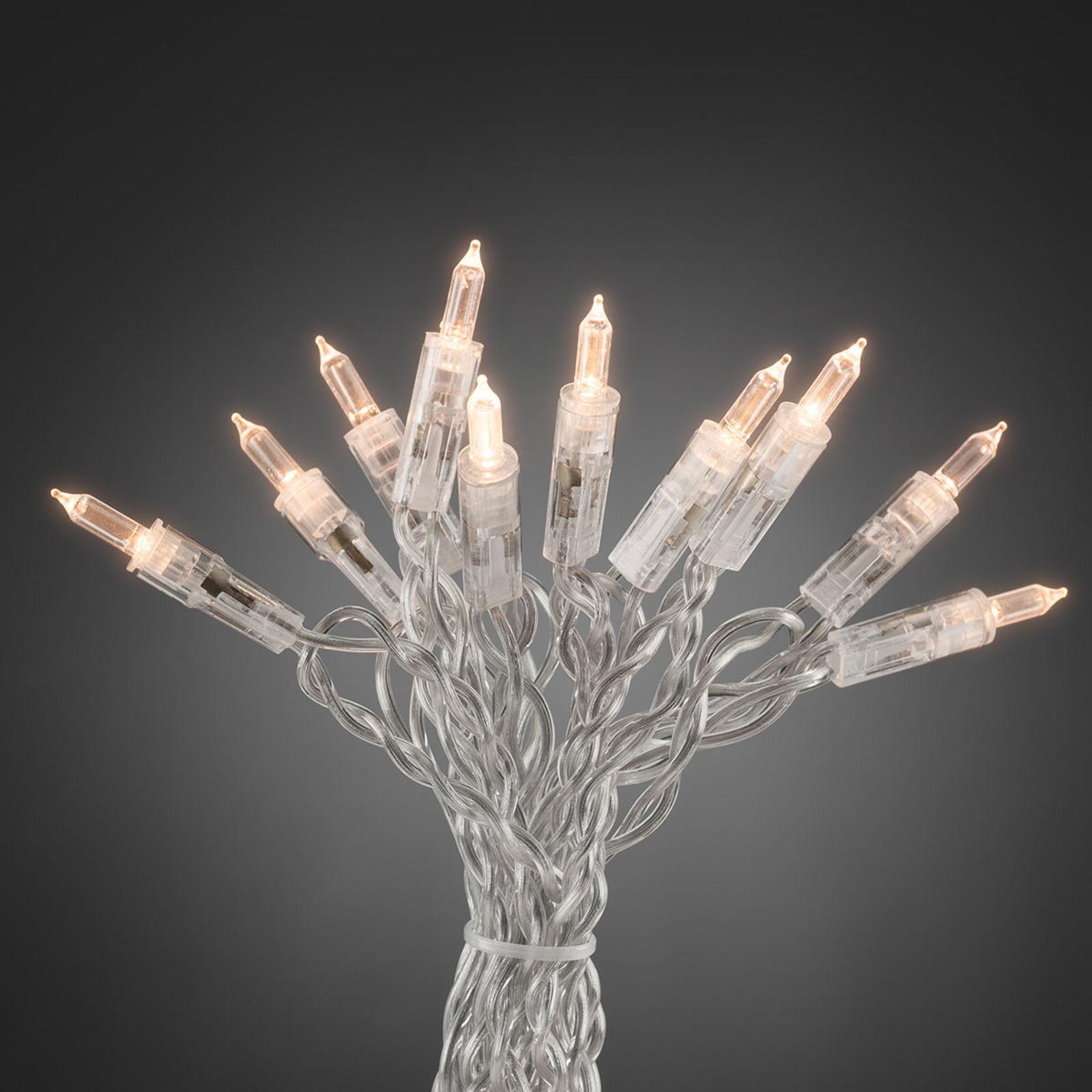 Minilyskjede med 100 varmhvite lys, 16,3 m