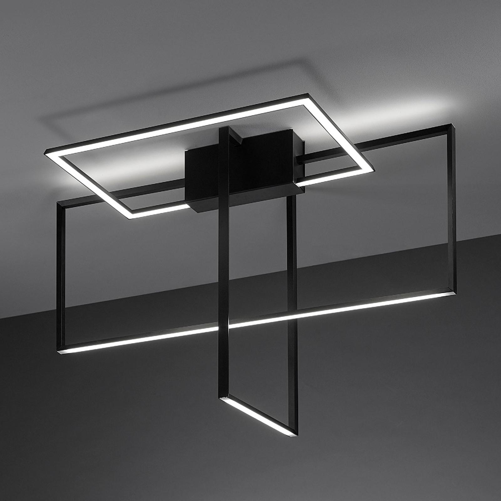Lampa sufitowa LED Area w kolorze czarnym