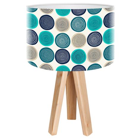 Třínohá stolní lampa Aqua s tištěným motivem