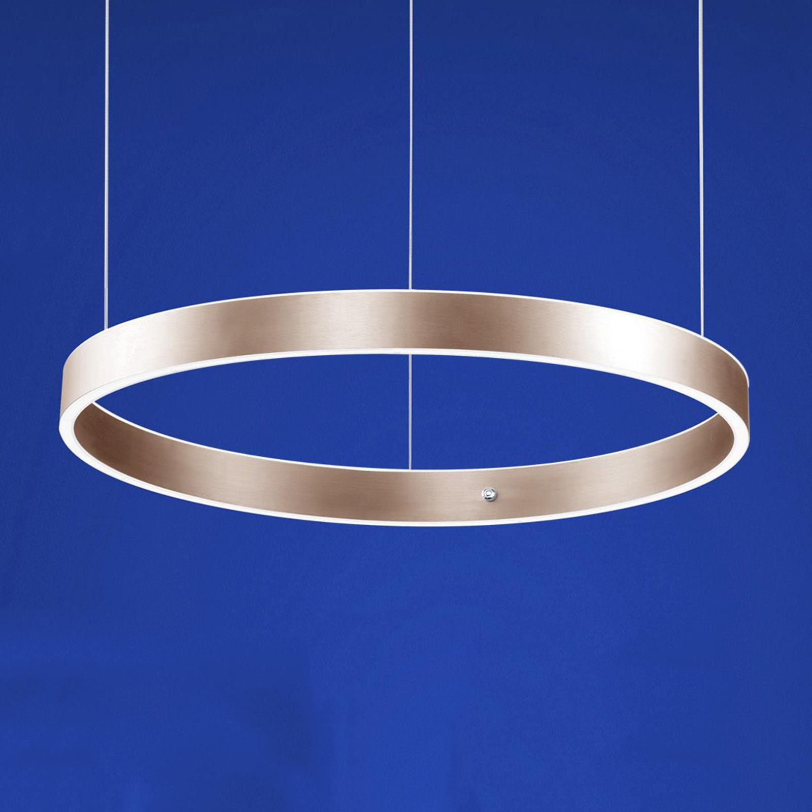 B-Leuchten Delta lampa wisząca LED 60cm, złota