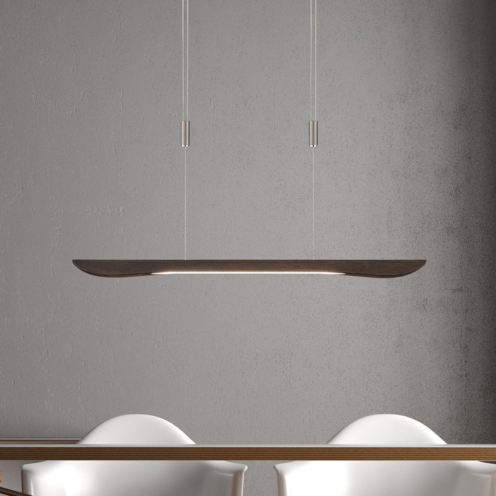 Lucande Hiba suspension LED, chêne colonial 88 cm