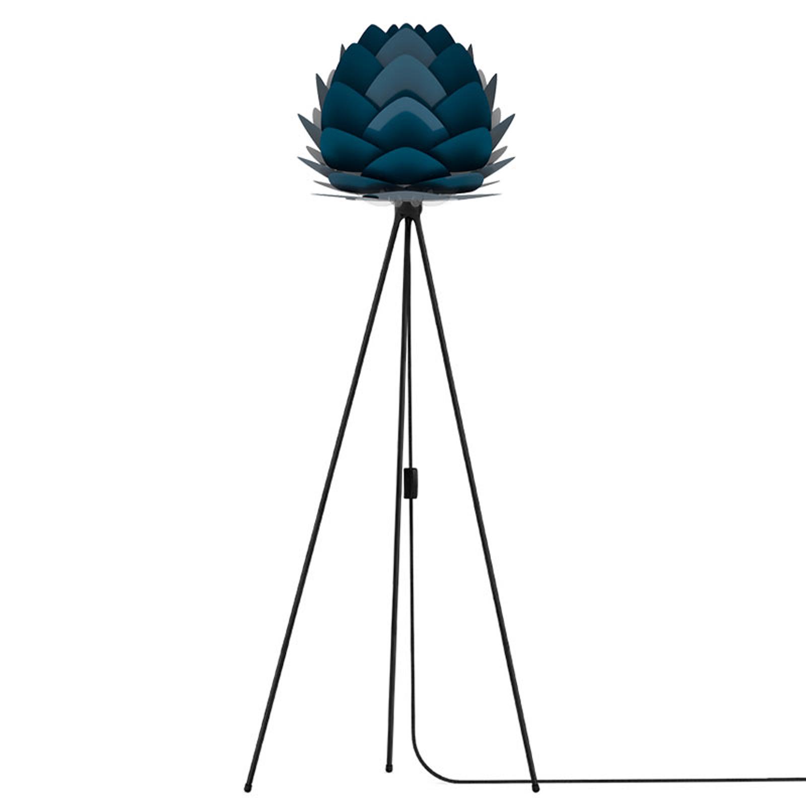 UMAGE Aluvia mini lampadaire noir/bleu