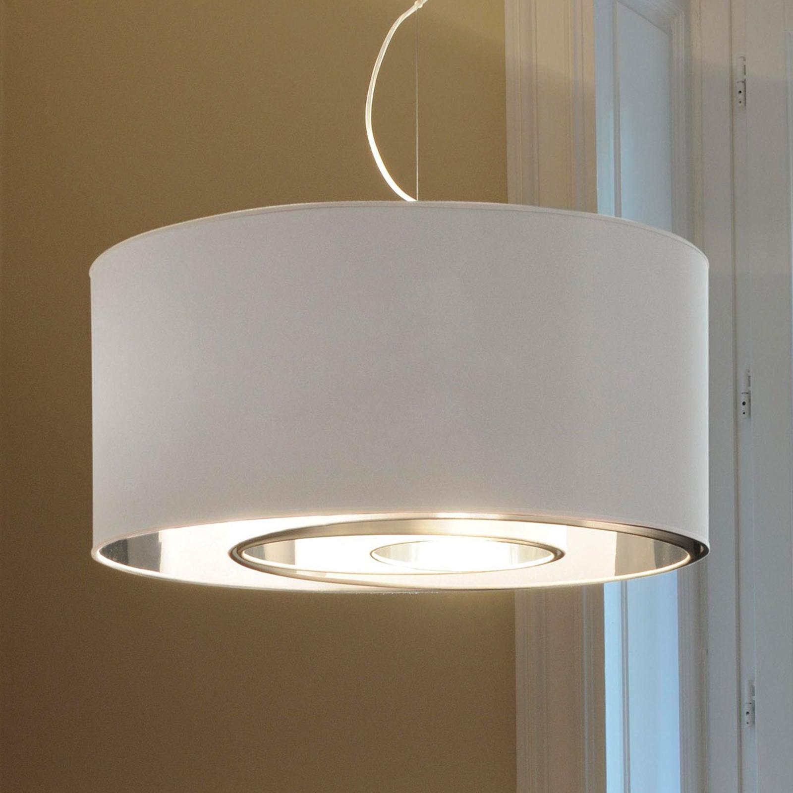 Suspension Circles blanche et argentée 65 cm