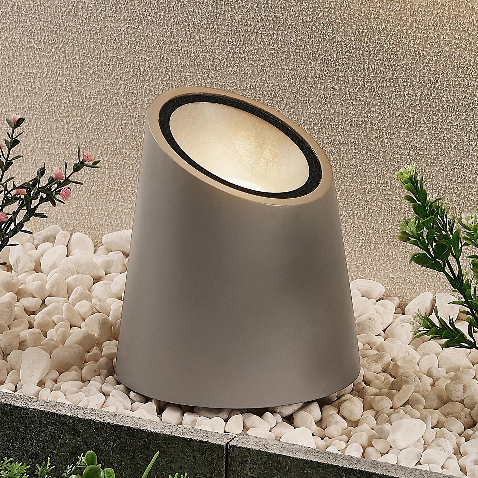 Lucande gulvlampe Andri, udendørsspot, beton