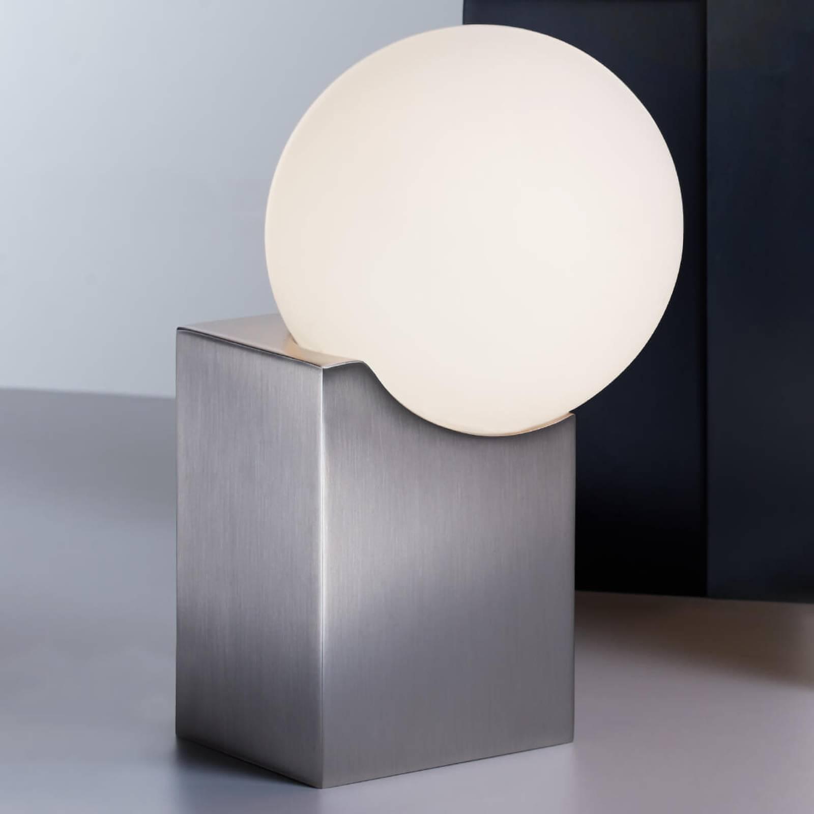 Lampe à poser Cub 17,5cm nickel mat