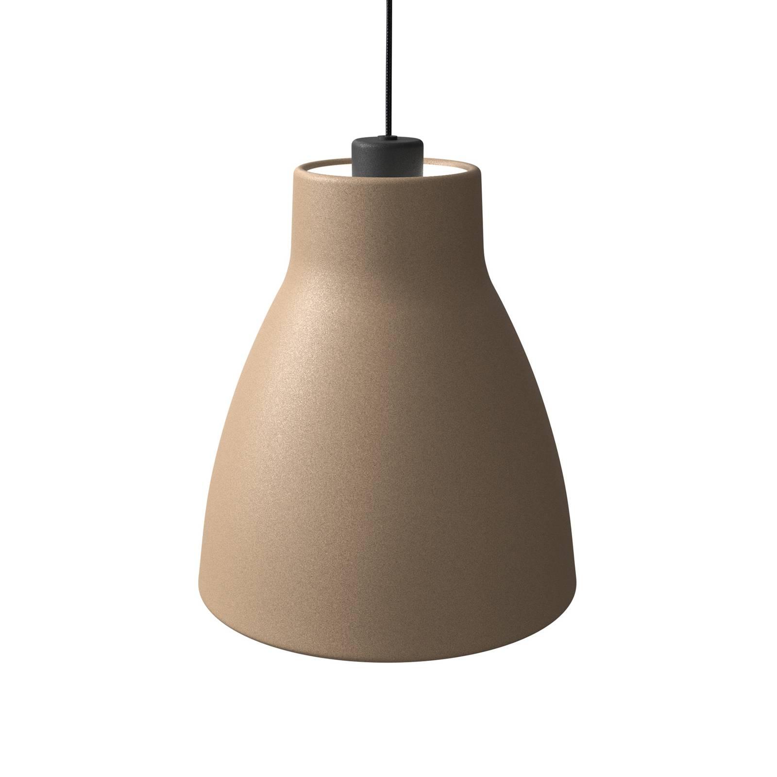Pendelleuchte Gong, Ø 25 cm, sandfarben
