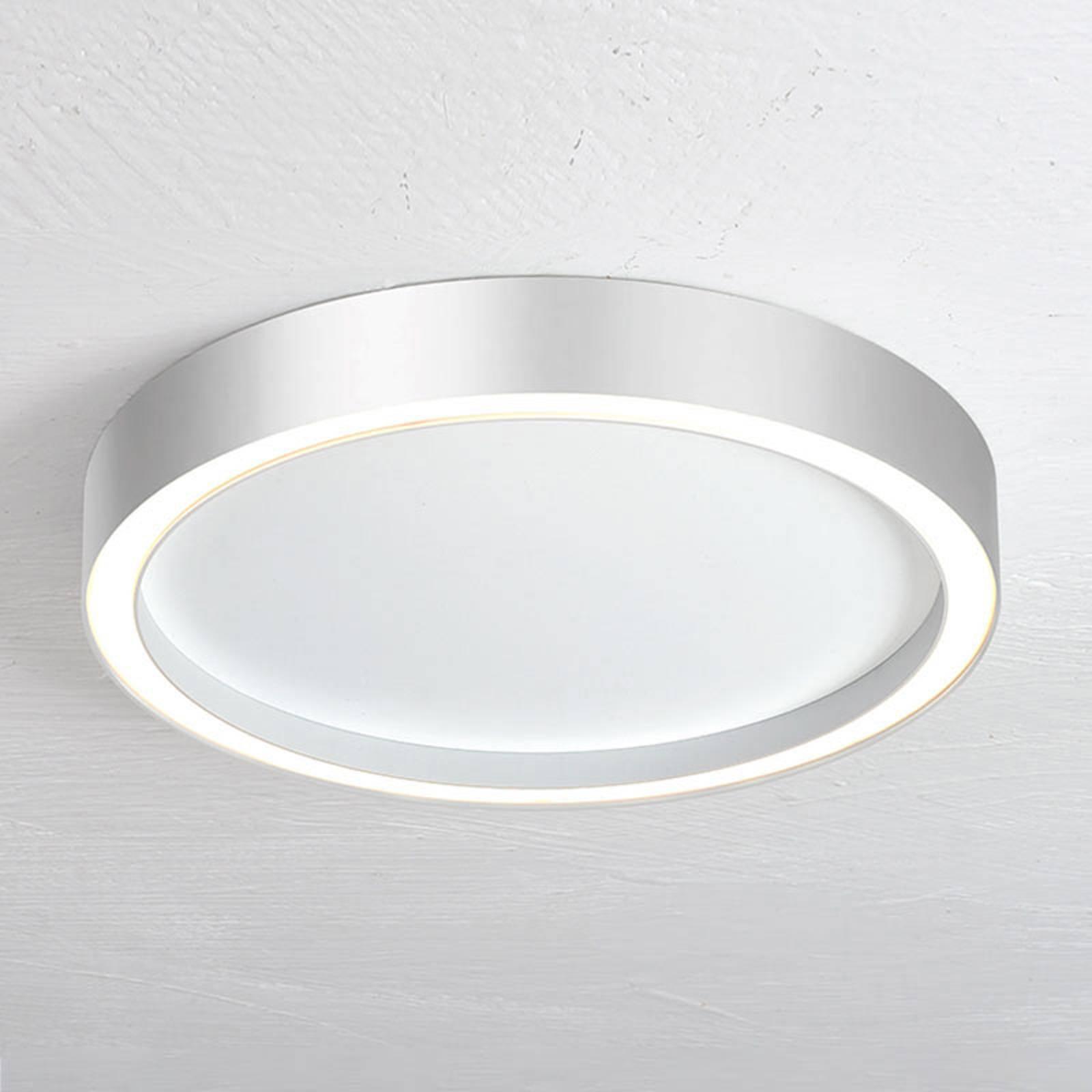 Bopp Aura lampa sufitowa LED Ø40cm biała/aluminium