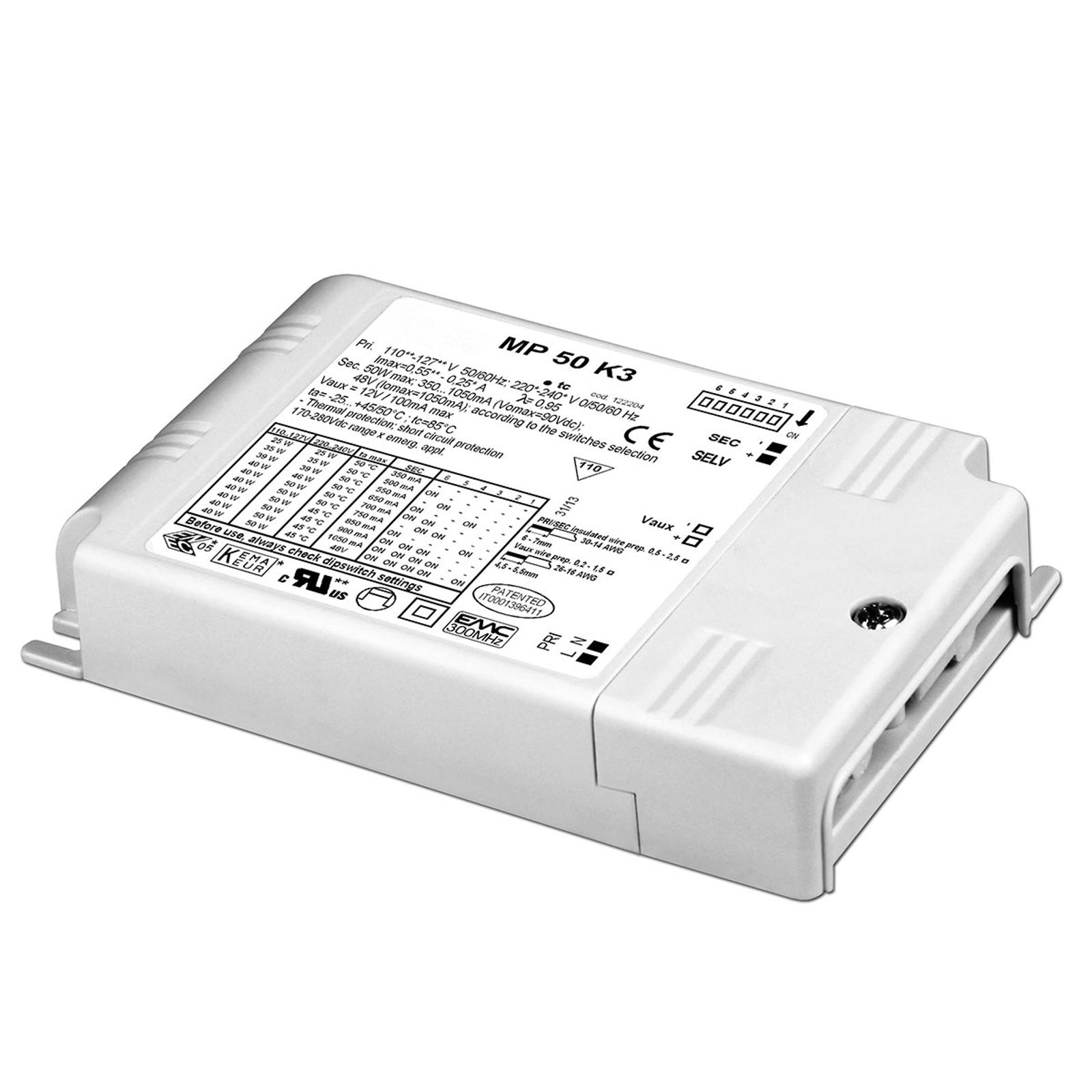 MP 50 K3 LED-konverter, justerbar, ikke dimbar