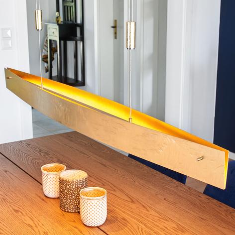 LED-hengelampe Malu i antikk-gull, 119 cm