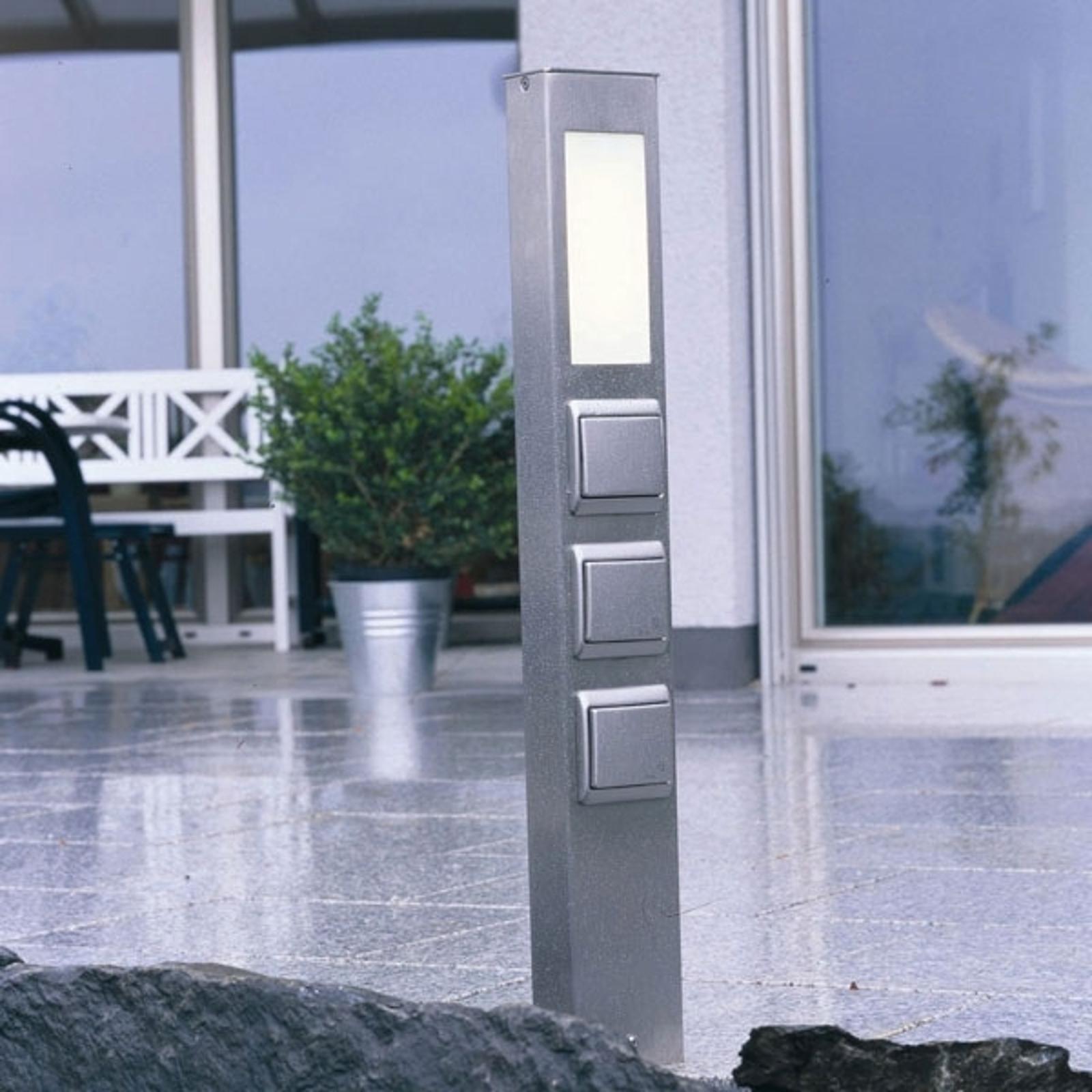 Licht- und Steckdosensäule mit Schutzart IP44
