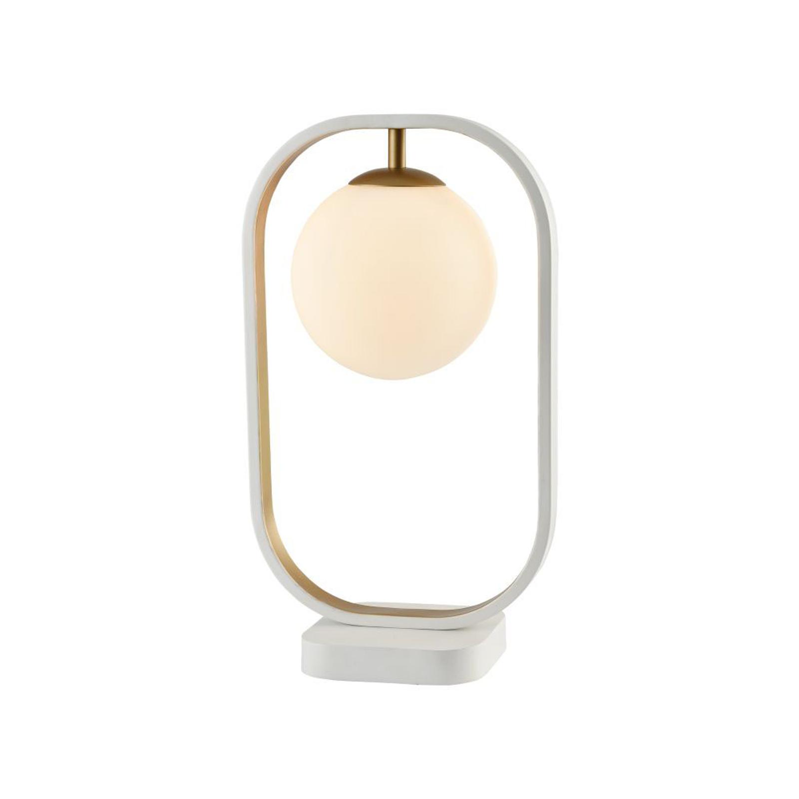 Lampe à poser Avola avec abat-jour sphérique verre