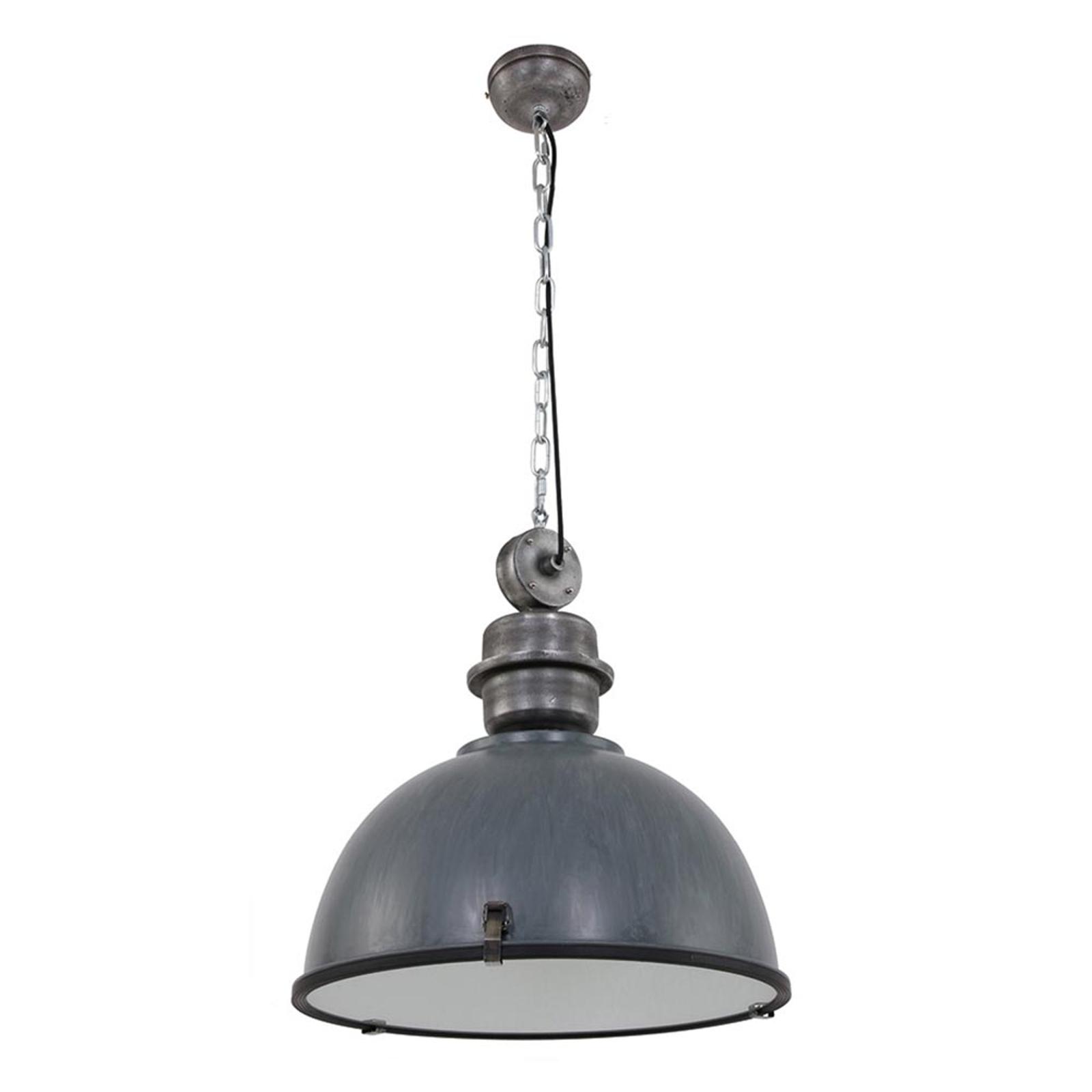 Suspension grise Bikkel XXL en design industriel