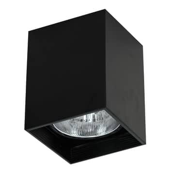 Foco de techo Downlight square negro