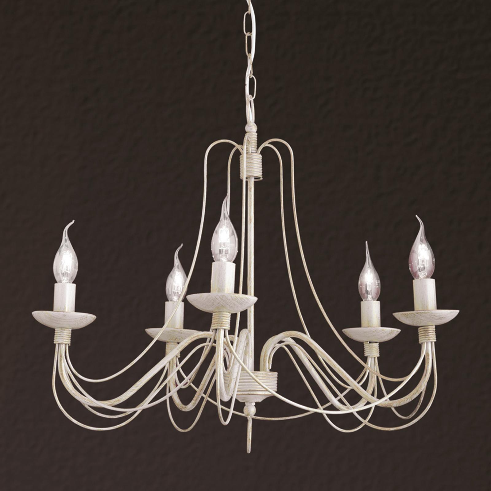 Joli lustre Antonina à 5 lampes