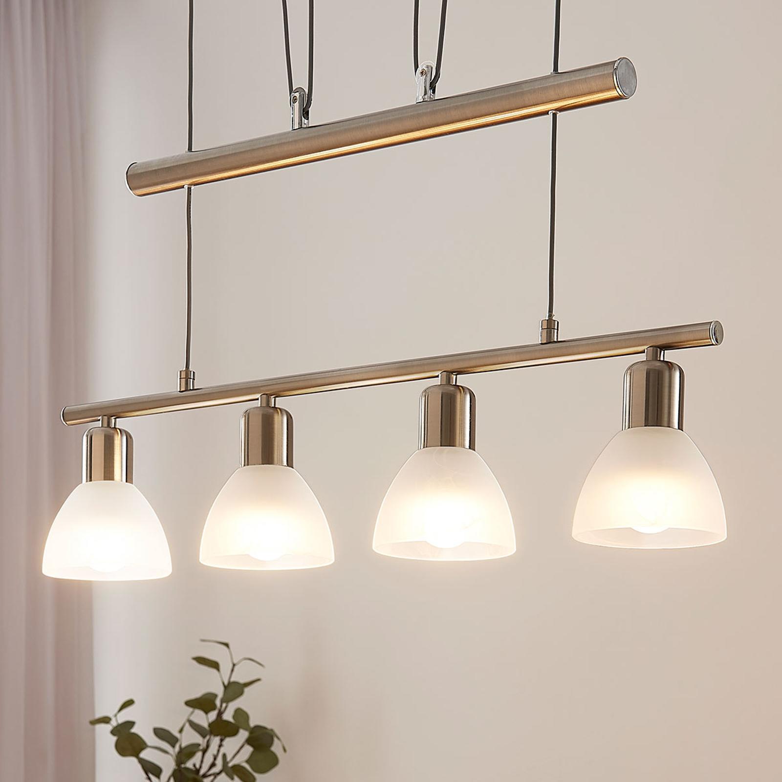 Justerbar LED pendellampe i bjælkeform Gwendolin