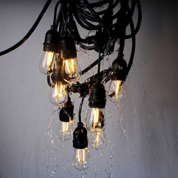 Ljusslinga Girlanda IP44 svart 10 m utan lampor
