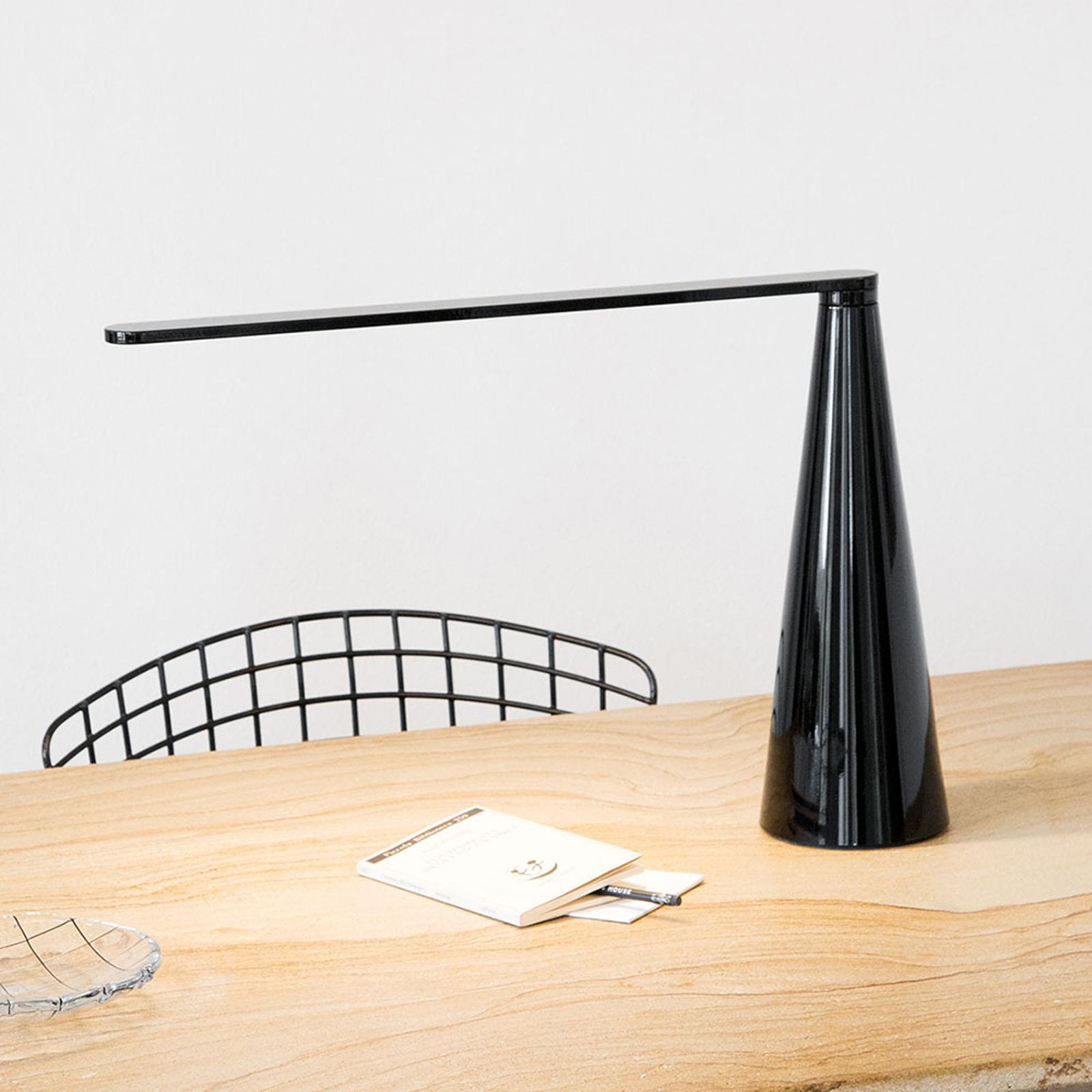 Martinelli Luce Elica LED-Tischlampe, schwarz