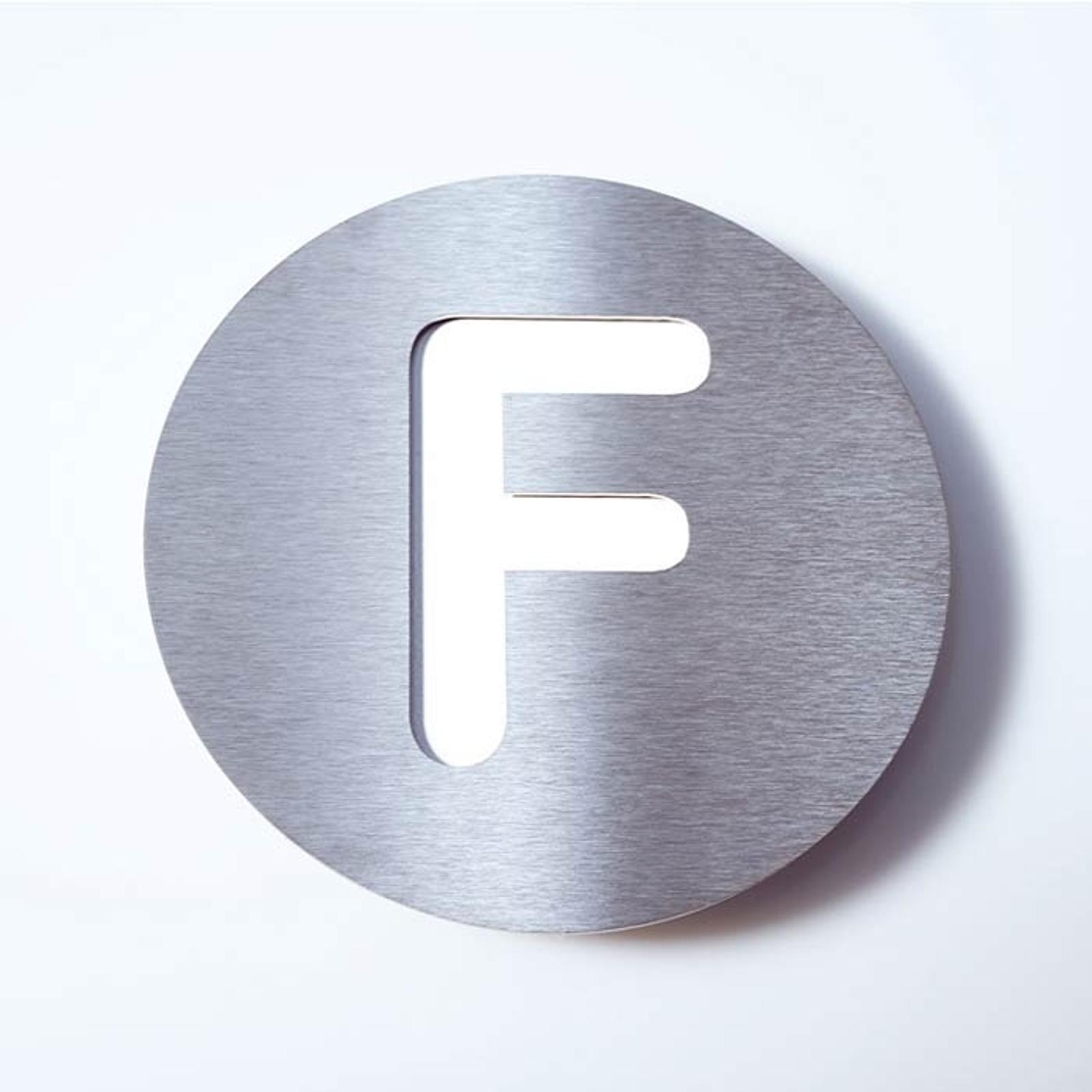 Edelstahl-Hausnummer Round - F