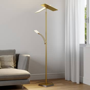 Lucande LED-uplight Parthena, messing