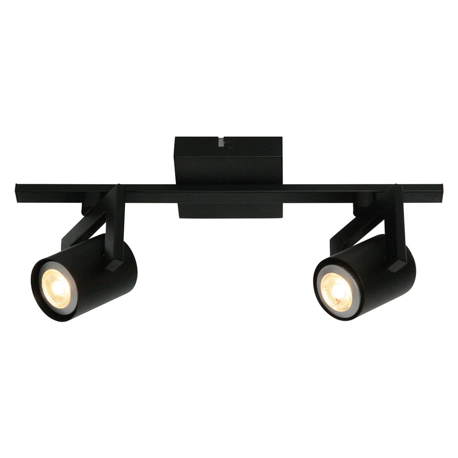 Freelight Moderní stropní světlo ValvoLED, černá, 2 zdroj