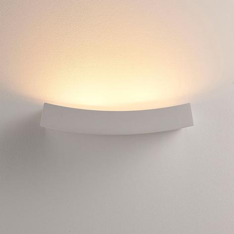 LED-veggspot Tiara i gips, G9-pære dimbar