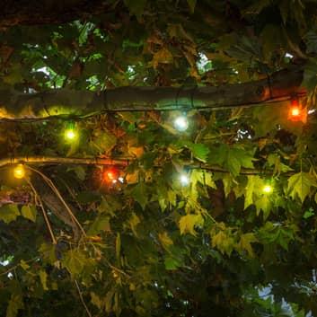 LED-ljusslinga Uteservering utvidgning, färgglad