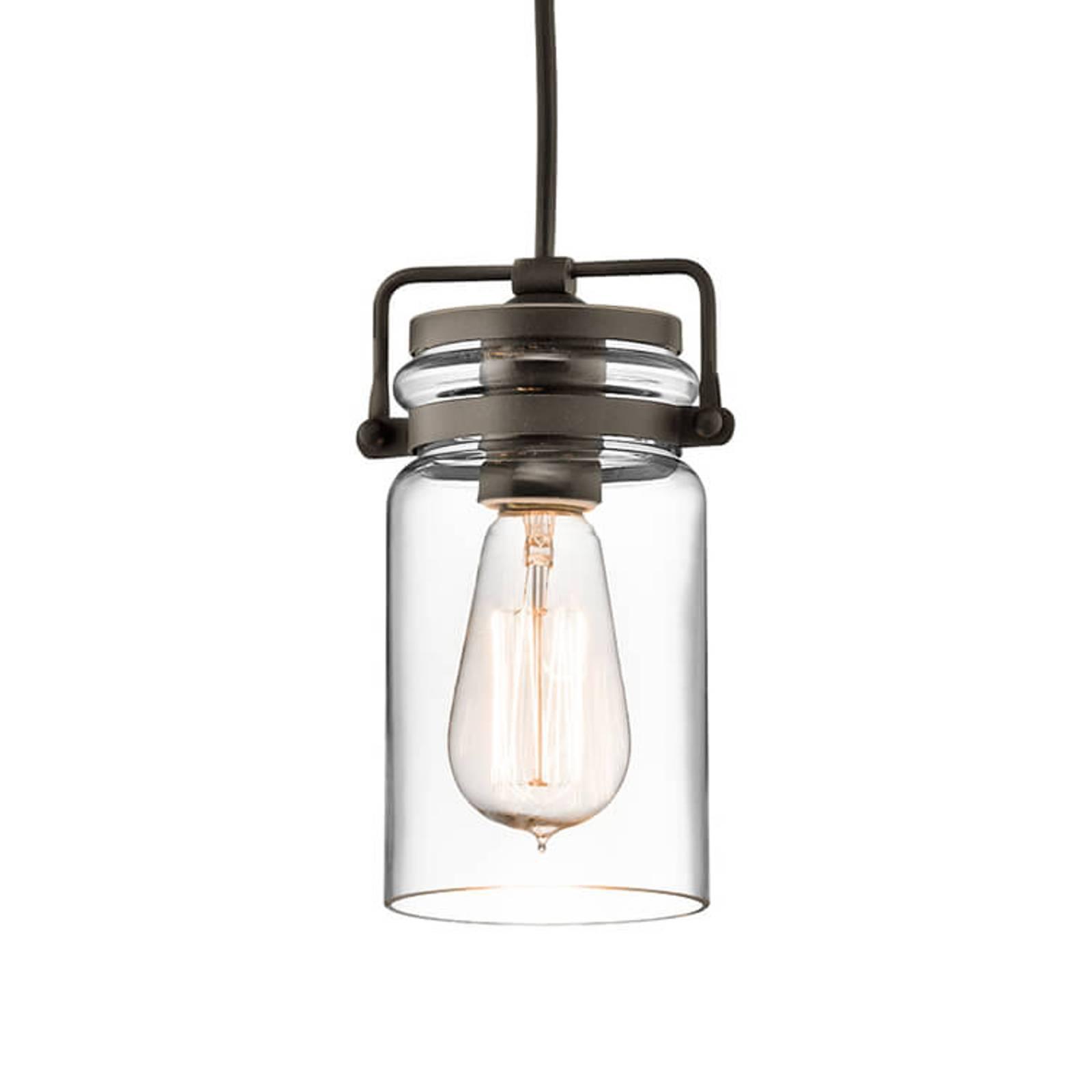 Suspension en verre Brinley à 1 lampe